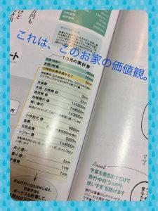 雑誌の家計簿例
