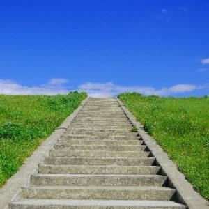 青空へ続く階段