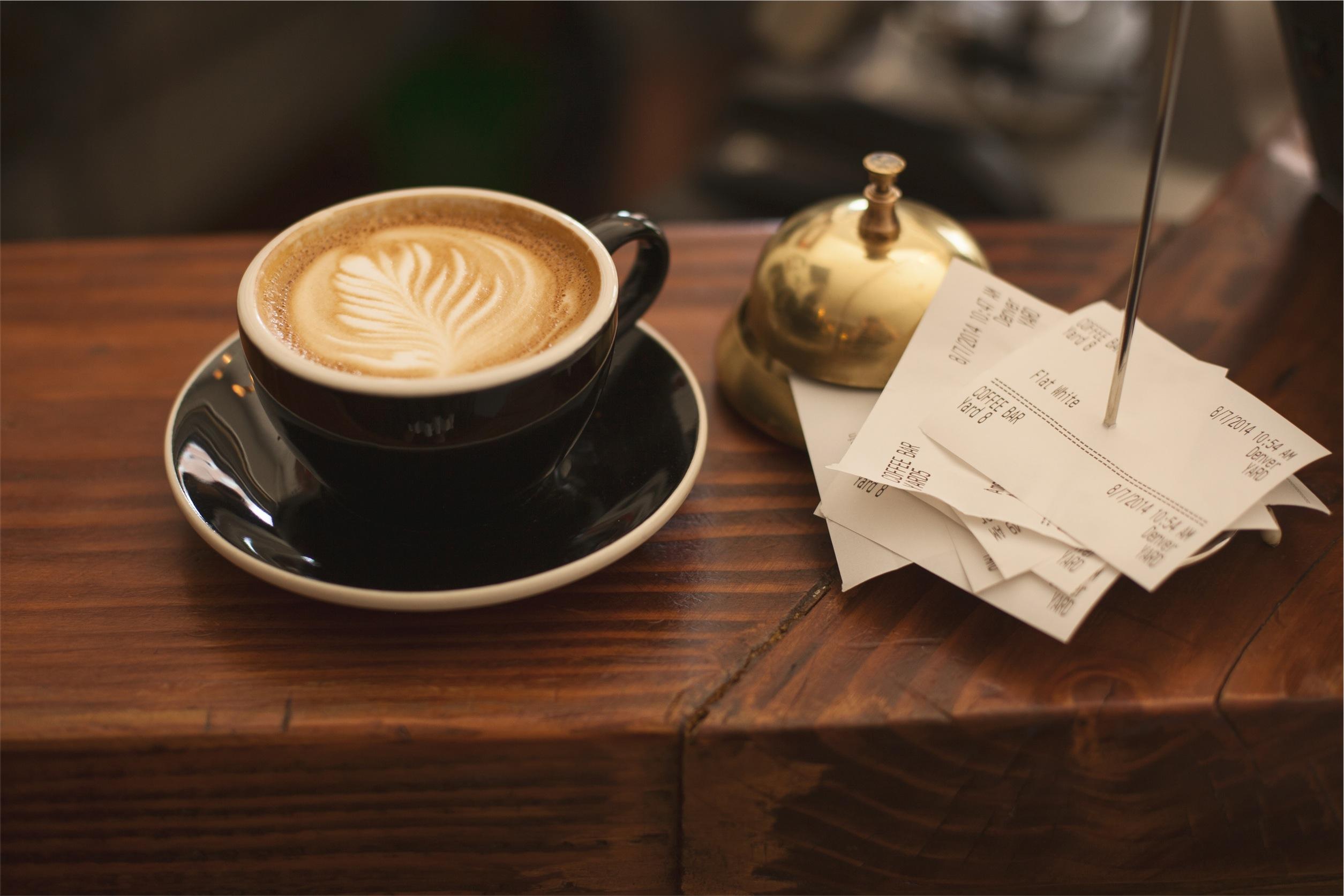 コーヒーとレシート